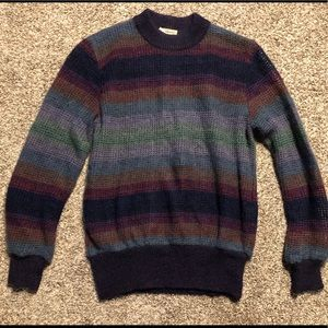 Vintage Boho 70's Multi-Colored Striped Sweater